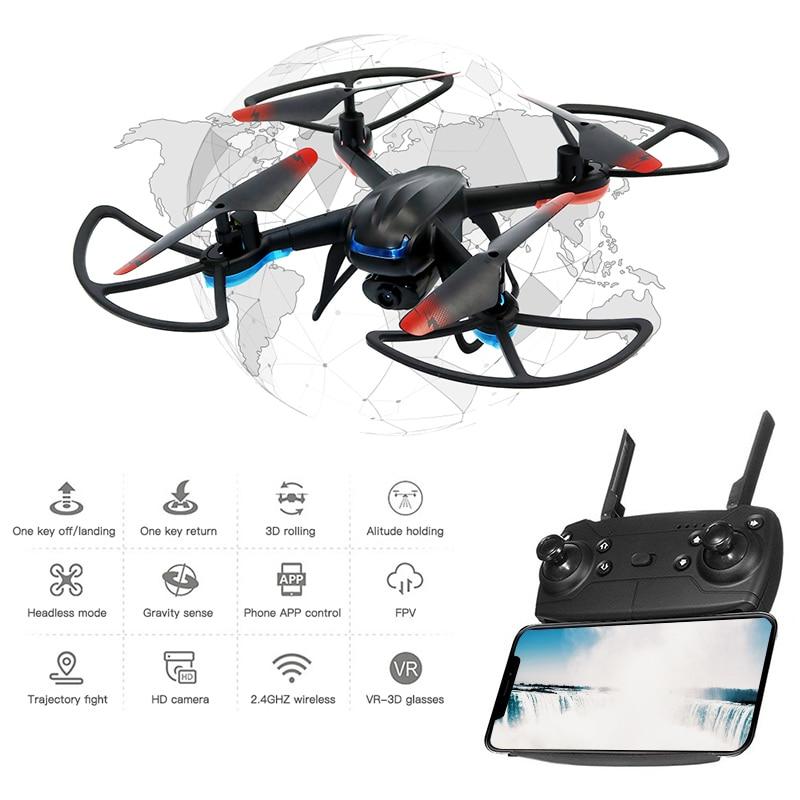 Mini RC Drone with WIFI Full HD Camera FPV GPS Foldable RC Quadcopter V0F0