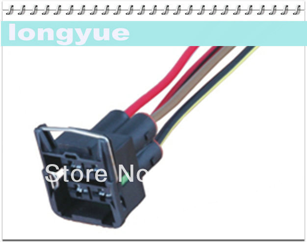 headlight wiring diagram 5 pin connector longyue 50pcs 4pin universal female connector wiring ... #5