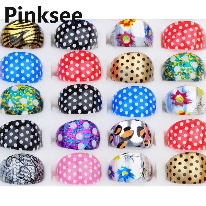 10pcs Lots Cute Dot Leopard Cartoon Lucite Kids Rings Resin Fashion Children Ring Party Gift Sz 15mm Cheap Wholesale Drop Free in Rings from Jewelry Accessories