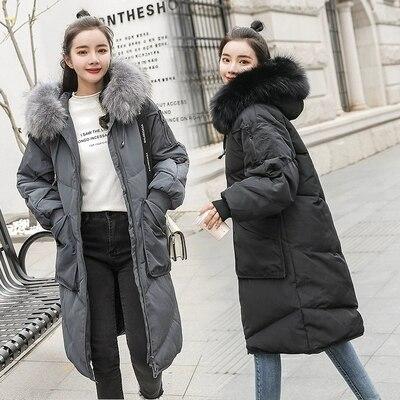 Noir Veste Vêtements Bas D'hiver Plus Le Femmes 5xl Doudoune 2018 Fourrure Manteau Vers Femme Mode Parka Taille La Long De gris Hiver Vestes wO1AnqI