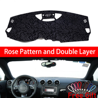Rose Pattern For AUDI TT TTS 2008 2009 2010 2014 Dashboard Cover Car Stickers Car Decoration Car Accessories Interior Car Decals