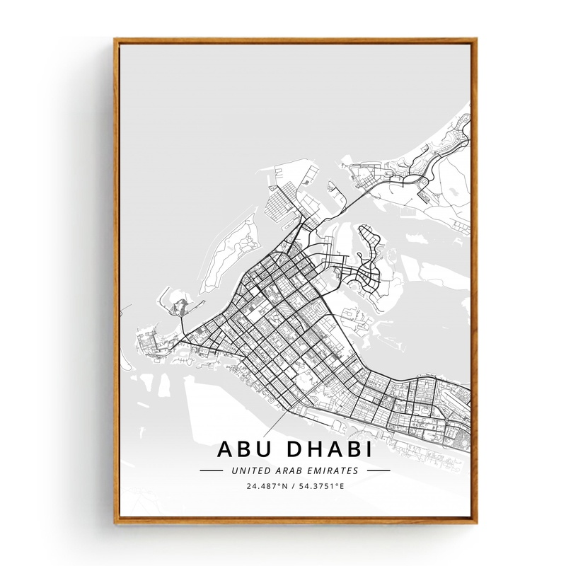 City Map Of New Zealand.Us 7 9 City Map Abu Dhabi United Arab Emirates Amsterdam Netherlands Auckland New Zealand Poster Art Picture Home Decor Canvas In Painting