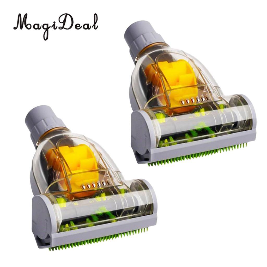 Pack of 2 Universal Vacuum Turbo Floor Brush Cyclone Brushes Pet Hair Mites Remover Kits Carpet Bedding Cleaning