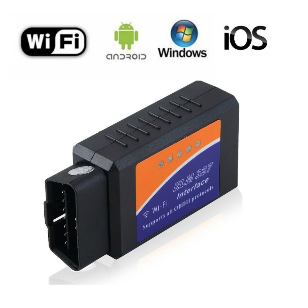 New ELM327 WiFi with PIC18F25K80 Chip Wireless OBDII Diagnostic Tool For IPhone/Android/PC ELM 327 V1.5 Auto Scanner
