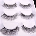 5 Pairs Pro Natural Long Sparse Cross False Eyelashes Eye Lashes Makeup Extension Tools