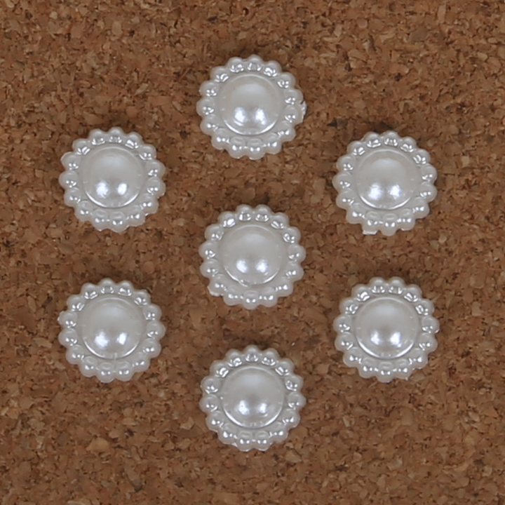 200pcs/Lot Flat Back Cabochon without hole Imatation Plastic ABS Pearl Flower for DIY Jewelry Beads & Craft Phone Decoration