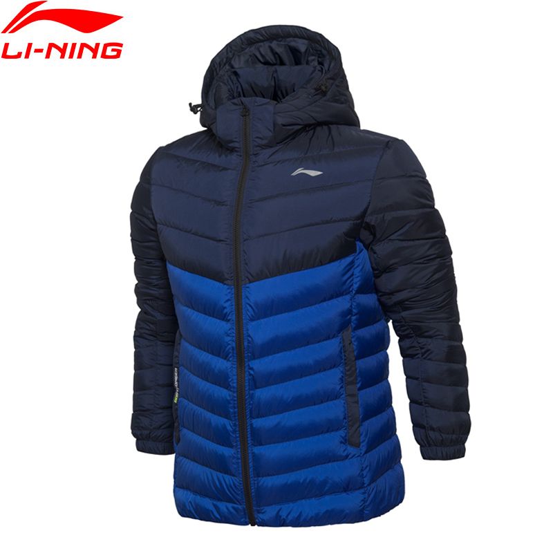 Li-Ning Men Training Short Down Jacket ATProof Wind Light Comfort LiNing Winter Jackets AYML043 MWY257 li ning men wade short down jacket at proof wind comfort lining winter jackets aymm183 mwy267