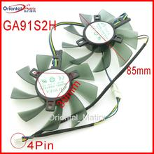 Free Shipping GA91S2H GA91S2U -PFTA DC12V 0.40A 4Pin 86mm VGA Fan For GEFORCE GTX1080 GTX1070 GTX1060 Graphics Card Cooling