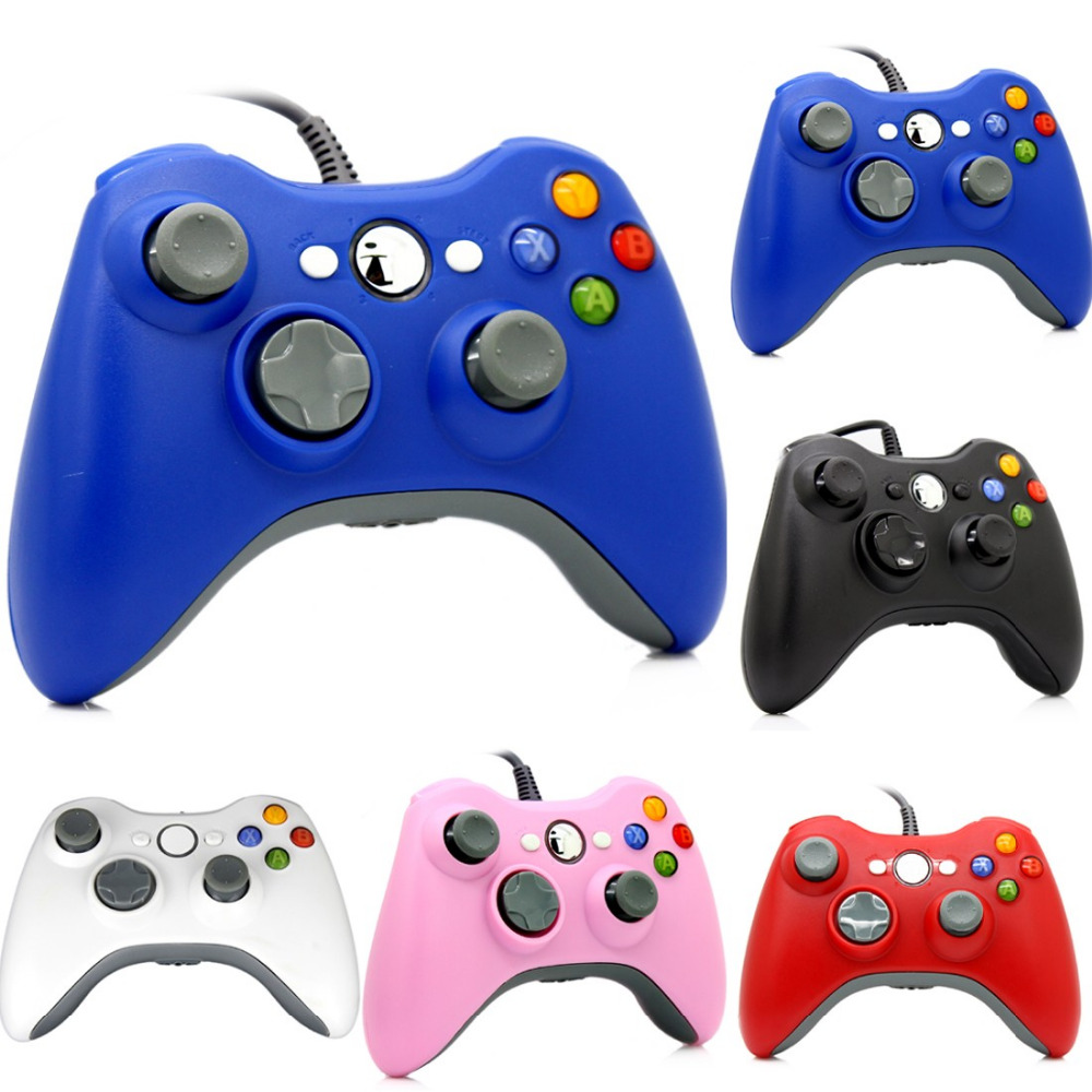 5 Color Gamepad USB Wired Joypad Controller For Microsoft for Xbox Slim 360 for PC for Windows7 Joystick Game Contro