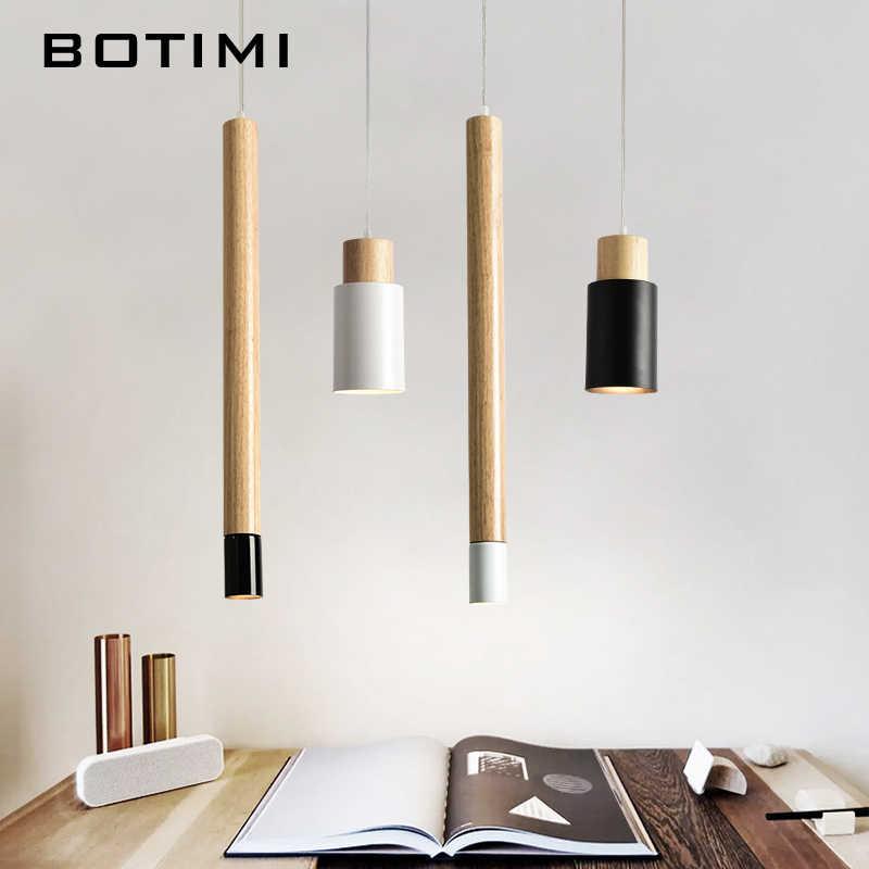 BOTIMI скандинавские Длинные трубки подвесные светильники металлическая обеденная барная стойка со светильниками подвесной светильник Кухонные деревянные светильники белые осветительные приборы