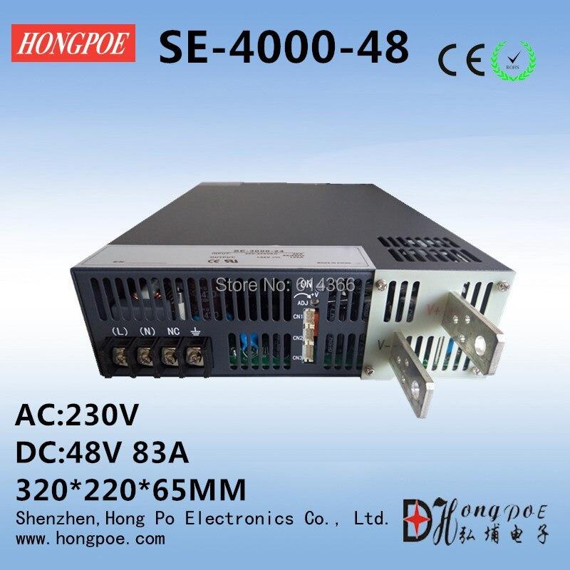 4000W 48V 83A DC 0-48v power supply  48V 83A AC-DC High-Power PSU 0-5V analog signal control SE-4000-48 free shipping ac110 or 230v 2500w dc 0 30v power supply 30v 83a ac dc high power psu 0 5v analog signal control
