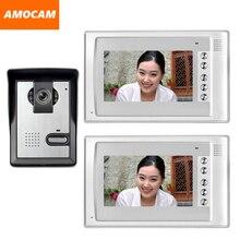 7″ Monitor Video Doorbell Door Phone Kit IR Night Vision Door Camera Video Intercom video interphone 2-Monitor for home villa