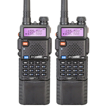 2PCS/LOT BAOFENG UV-5R Dual Band 5W Walkie Talkie with Long Battery Free Earphone Five Colors Selectable