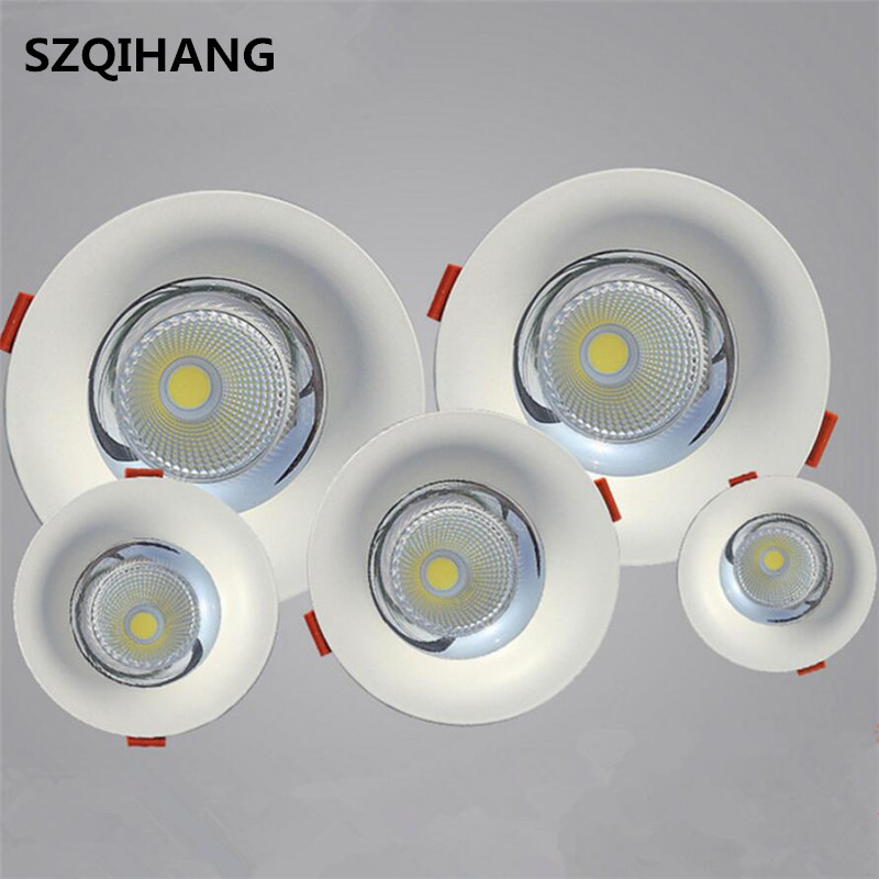 High Quality LED COB Recessed Downlight 10W/15W/20W/30W Warm Pure White LED Spot Lamp Led Ceiling Lamp Light AC85-265V