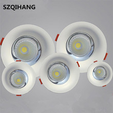 High Quality LED COB Recessed Downlight 10W/15W/20W/30W Warm Pure White Spot lamp Led Ceiling Lamp light AC85-265V