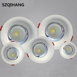 Image 1 - באיכות גבוהה LED COB שקוע Downlight 10W/15W/20W/30W לבן טהור חם LED ספוט מנורת Led תקרת מנורת אור AC85 265V