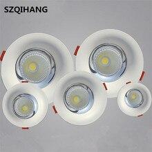 高品質led cob凹型ダウンライト 10 ワット/15 ワット/20 ワット/30 ワット暖かいピュアホワイトledスポットランプledシーリングランプ光AC85 265V