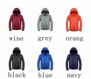 Image 5 - NewBang uzun kaban erkek ultra hafif şişme mont erkek kışlık ceketler hafif ceketler kapüşonlu Parka rüzgarlık tüy Parka