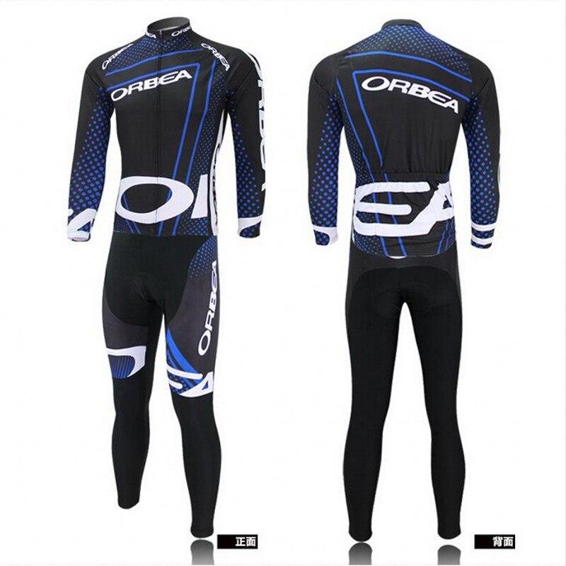 Popular Pro Long Sleeve Riding Wear Bike Cycling Jersey Shirt Bibs Set Pantalones Outfits Tops Bicycle Garments Maillot