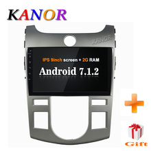 KANOR 1024*600 Android 7.1 2+16g 1din Car Radio Player For KIA Forte Cerato 2008-2012 Capacitive With Autoradio single 1din