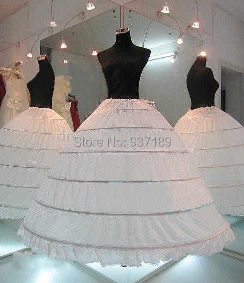d7ef62746b59 ... 2019 HOT sale 6 Hoop Petticoat Underskirt For Ball Gown Wedding Dress  Underwear Crinoline Wedding Accessories ...
