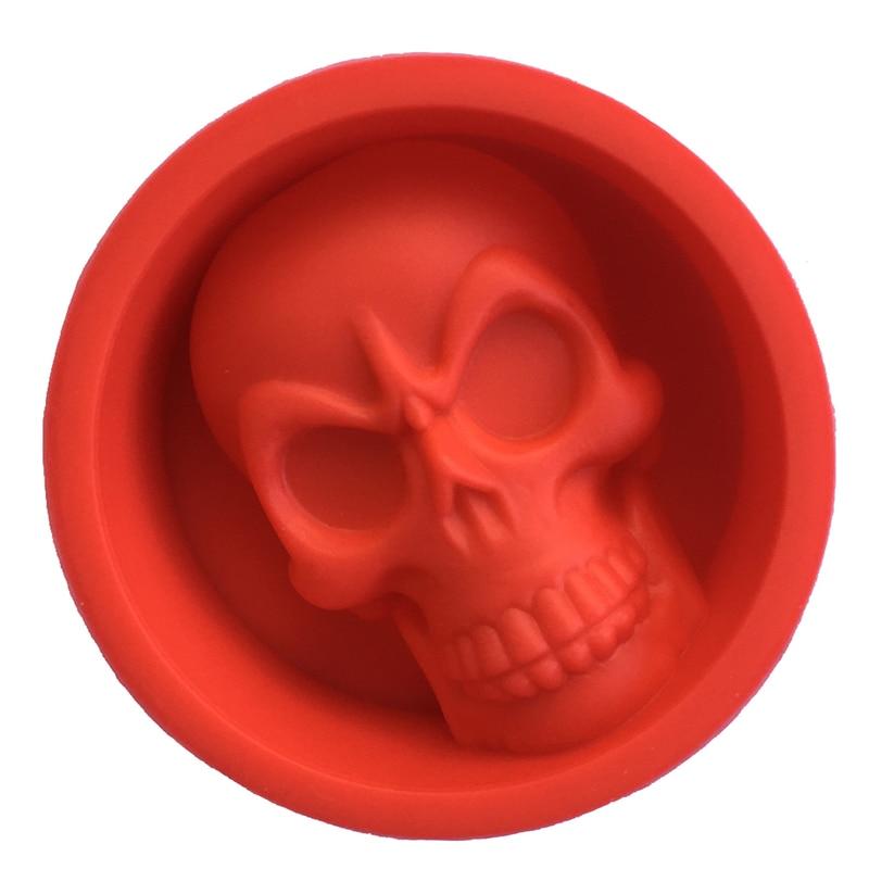 Molde de silicona 6 * 6 * 2 cm Creativo 3D Skull Ice Cube Tray Cake - Cocina, comedor y bar - foto 4