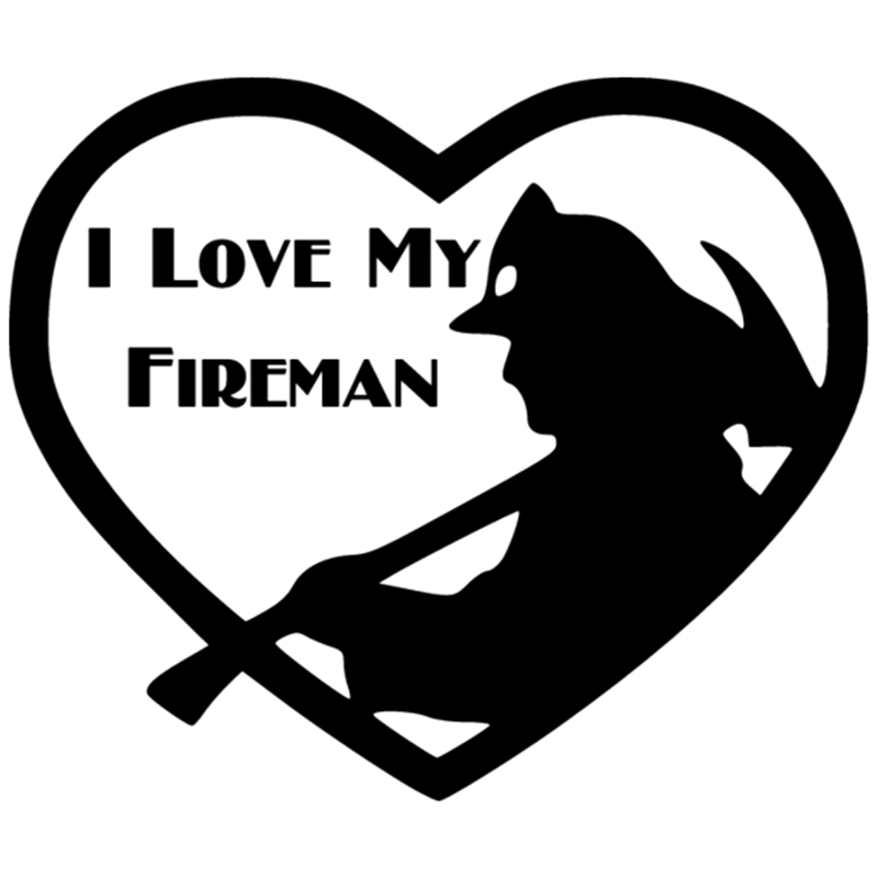 Friendly Ck2079#18*15cm I Love My Fireman Funny Car Sticker Vinyl Decal Silver/black Car Auto Stickers For Car Bumper Window Car Stickers Exterior Accessories