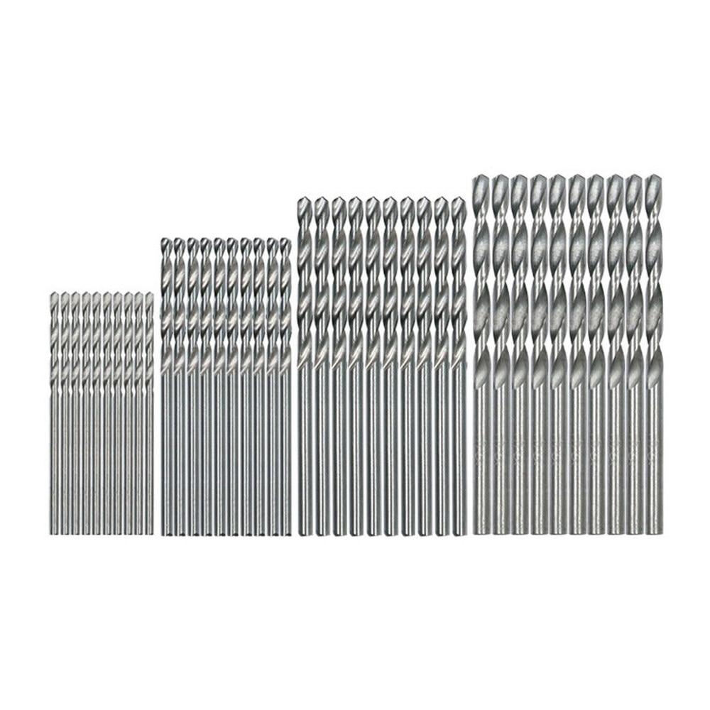 THGS 40 Pcs Mini Drill HSS Bit 0.5mm-2.0mm Straight Shank PCB Twist Drill Bits Set