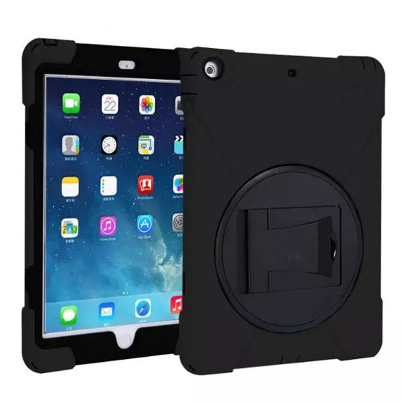 For Apple iPad AIR Hybrid Three Layer Heavy Duty Armor Silicone Case for iPad 5 Tablet PC Stand Cover 3 PCS Free Gifts 3 in 1 hybrid heavy duty shockproof dual layer military armor back cover case for apple ipad mini 4 case cover tablet case gifts