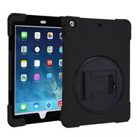 For Apple IPad AIR Hybrid Three Layer Heavy Duty Armor Silicone Case For IPad 5 Tablet
