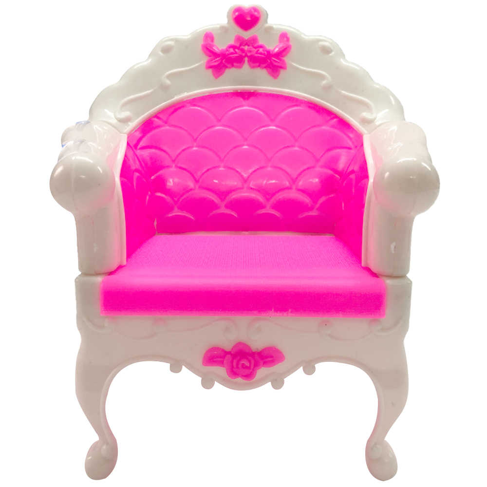 NK один шт аксессуары для куклы модные Стиль принцесса дом мечты стул Пластик диван кресло, мебель для куклы Барби лучший подарок