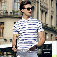 2017 New Arrival Striped Mens Polo Shirt Brands Brand Clothing Men Business Casual Solid Male Short