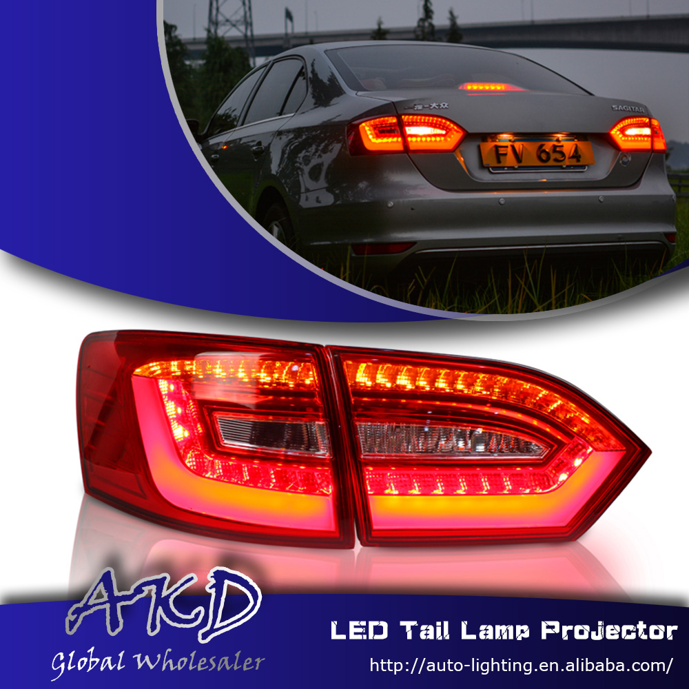 Car Styling Vw Jetta Tail Lights 2017 Led Light Volks Wagen Mk6 Rear Trunk Lamp Cover Park Signal Stop Accessories In Embly From