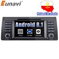 Eunavi 4 ядра 1 din Android 8,1 dvd плеер автомобиля радио gps навигации стерео для BMW E53 E39 X5 Поддержка ТВ 4G Wi Fi БД DVR