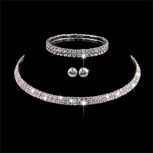 Romad Rhinestone Wedding Bridal Jewelry Sets Austrian Crystal Necklace Earrings Bracelet For Women bridal jewelry sets crystal rhinestone gold color wedding necklace and earrings sets for women trendy jewelry sets accessories