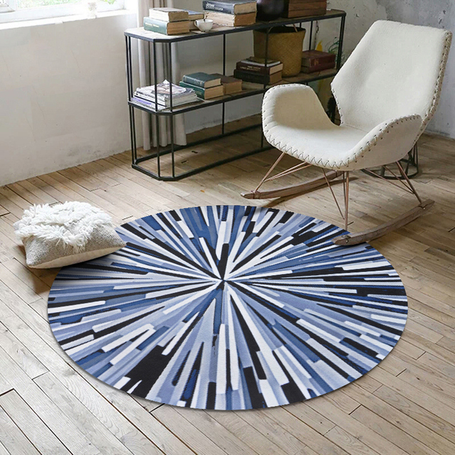 Round Carpets For Living Room Decor Rug Kids Baby Bedroom Crawl Rugs Child Computer Chair Floor Mat Cloakroom Carpet