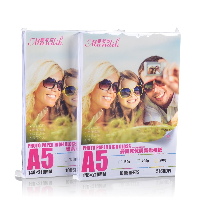 Premium cast coated 3R 4R 5R A5 200g 230g super white photo paper glossy