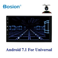 car multimedia player 2din android 7.1 car radio for universal nissan car gps navigation player BT FM AM RDS wifi 4G free camera
