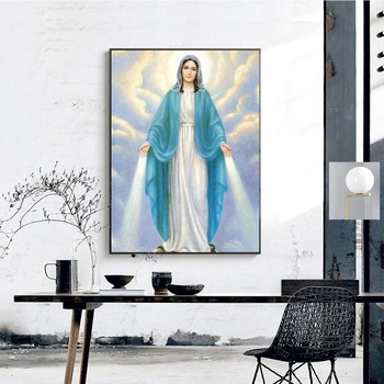 Huacan Diamond Embroidery Icon Diamond Painting Religion Full Square Picture Rhinestone Cross Stitch Mosaic Paintings