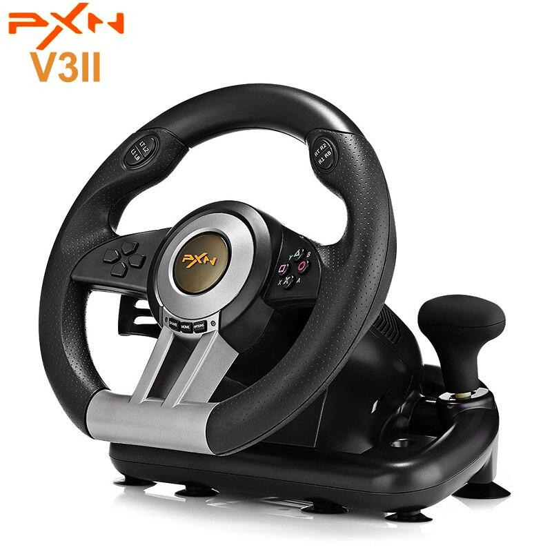 Originale PXN V3II Da Corsa Gioco Volante Con Freno A Pedale Pieghevole Pedale Controller di Gioco Joystick Per PC PS3 PS4 Xbox di un