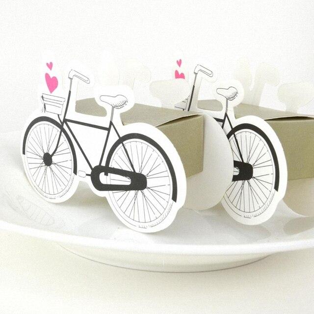 20 PCS Décoration De Mariage Coeur vélo avec Cuboid Papier Bo te De