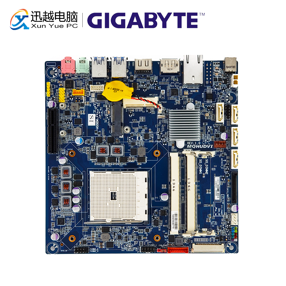 Gigabyte MQHUDVI Desktop Motherboard MQHUDVI A75 Socket FM2 APU SO-DIMM DDR3 16G 1866Mhz SATA3 USB3.0 HDMI DP Thin Mini-ITX hot compatible legoinglys batman marvel super hero movie series building blocks robin war chariot with figures brick toys gift