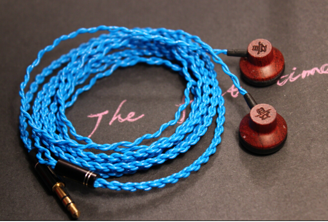 Wood Open earphone diy in-ear earphone diy earphone snakeskin lines