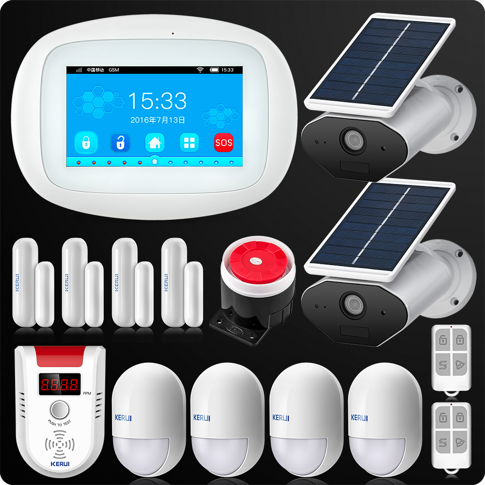 KERUI K52 4 3 Inch Big Touch Screen TFT Color Screen Wireless Security Alarm WIFI GSM