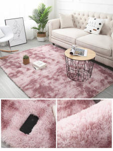 Carpet-Tie Floor-Mats Bedroom Anti-Slip Grey Living-Room Plush Water-Absorption for Rugs