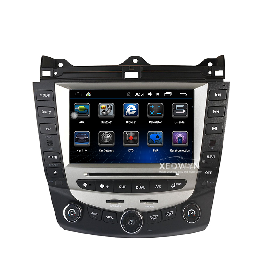 Discount Car Radio Multimedia Android 8.0 for Honda Accord 7 2003-2007 car dvd audio stereo player gps Navigation wifi RDS 2din 1