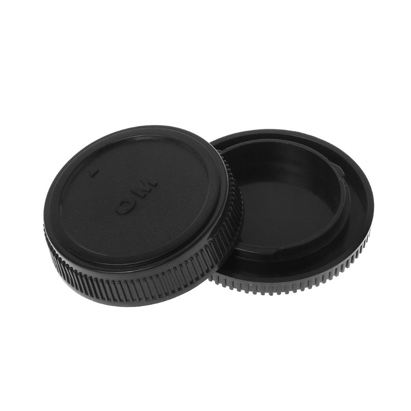 Rear Lens Body Cap Camera Cover Anti-dust Mount Protection Plastic Black For Olympus OM