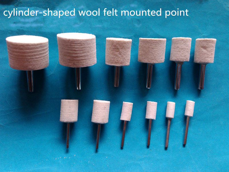 3mm Shank Cylinder Shape Wool Felt Grinding Head Mounted Point Dremel Rotary Tool Accessories 110 PCS