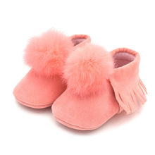 Newborn Baby Soft Tassel Bottom Non-slip Shoes Toddler First Walkers