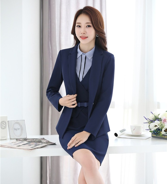 Formal Dress Suits for Women Business Suits Blazer and Jacket Sets Ladies  Office Uniforms Styles bc2febcaf3ab